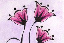 Painted flowers / Pitture di fiori