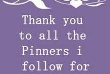 Thank you / Fellow pinners ; please feel free to repin as much as you wish / by Avery Joy Paris