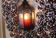 wreath and decori / Addobbi natalizi