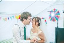 Whimsical and Colorful Wedding Fun / For the bold and adventurous bride who is looking to add a splash of color and excitement to her special day...