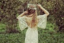 The Bohemian Bride / For the bride who is a free spirit... flower crowns, bare feet, lace details, outdoor festivities, and elements inspired by nature will inspire you to plan the perfect bohemian wedding festivities.