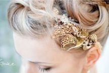 One-off Bridal Headpiece Designs / A collection of past one-off, bespoke bridal headpiece and bridal jewellery designs, for your inspiration to create your own one-off design with us.