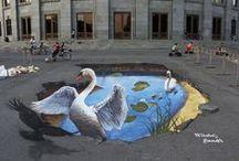 Art - Street Art / Chalk art, sculptures, nature's art, murals / by Donna Binkley