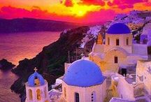 "☀ ~ Gloґioʊs Gґεεce ~ ☀ / Greece.. the Land of Gods, ancient history... Mediterranean Sea, scenic islands, tempting beaches, legendary mountains, traditional food, bouzouki music & breathtaking landscapes.   Experience endless miles of aquamarine coastline, sun-bleached ancient ruins, strong feta.. stronger ouzo...and  ""If in the library of your house you do not have the works of the ancient Greek writers then you have a house with no light"" Bernard Shaw  / by Deborah Escobar"