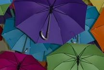 Bumbershoots, Brollies, Parasols / Umbrellas, colorful, useful, artistic and more.