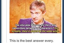 Martin Freeman / because he's a freaking cute sass master