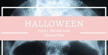{Halloween} / Food, Decorations, Costumes and Traditions related to Halloween