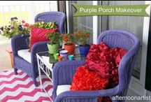 AfternoonArtist - My Porch / Colorful porches, curb appeal, outdoor spaces, front porch style.