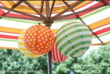 AfternoonArtist - My Deck / All decked out in Tangerine Tango, Pantone's 2012 color of the year. Colorful outdoor spaces.