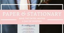 {Paper+Stationary} / Ideas on Wedding Invitations, Menus, Ceremony Programs, Seating Charts and other Day of printing needs
