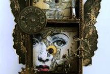 Mixed Media / Art Journals, Assemblage Art, Altered bottles, tins and matchboxes / by Melanie Nolan