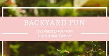 Backyard Fun / Enjoy your back yard with these oversized games for the entire family or wedding!