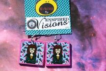 Enspired Visions Shop / Earrings that are in my etsy shop for purchase. Everything from #NaturallyNative earrings to 80's and 90's Nostolgic earrings...Enjoy!