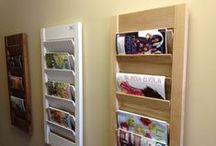 Other Storage Ideas & Hardware / Here are some examples of other storage ideas we have had and some of the hardware we use. Most of these images are from our showroom in Omaha, NE so feel free to stop by!