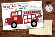 Parties: Firetruck / Birthday party with a firetruck theme.