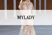 MYLADY / My Lady is een bruidsmodemerk afkomstig uit Israël. Deze bruidscollectie kan ook wel omschreven worden als pure elegantie. De haute couture My Lady bruidsjurken hebben alle ingrediënten die nodig zijn om het plaatje compleet te maken. De bruidsmode is gemaakt van een  bijzondere collectie van materialen, Swarovski kristallenen kralen. De bruidsjurken van My Lady worden qua stijl dan ook bij het exclusieve segment geplaatst. #mylady #koonings