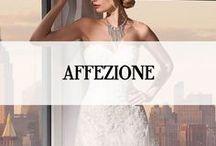 AFFEZIONE / Affezione Couture Sposa is ontwikkeld door een ervaren team van bruidsmode ontwerpers met gebruik van de meest luxueuze stoffen om te streven naar een ultra extravagante stijl die heeft geleid tot een verscheidenheid aan couture technieken en stijlen. Affezione herbergt betaalbaarheid en sublieme luxe. Deze prachtige collectie vindt je in de showrooms van Koonings The Wedding Palace.#affezione #koonings