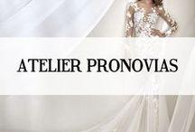 ATELIER PRONOVIAS / Atelier Pronovias is een bruidsmodemerk afkomstig uit Spanje, het zijn de topjurken uit de Pronovias collectie en worden ontworpen door een team van maar liefst 60 designers om een rijke diversiteit in stijlen te garanderen. Atelier Pronovias is het paradepaardje van de Pronovias Fashion Group en word helemaal in Spanje vervaardigd.