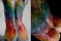 Tattoos - The Lore: Winged creatures / Direct from the Fantasy: Fairies, pixies, dragons,  phoenixes and (arch)angels...or other halflings