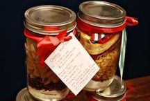 Homemade Gifts / Gift Baskets, Gifts In A Jar, Mixes In A Jar, Bagged Treats, Shower Gifts, Housewarming / by Malissa Zimmerman