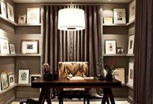 Glam Home Office / Glamorous contemporary home office with lots of sparkle and drama. / by Jennifer {Fab Fatale}