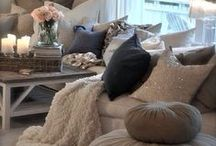 Transitional Living Room / Transitional living room - the house we're building is on a lake, so I'm going for a rustic meets contemporary transitional living room. / by Jennifer {Fab Fatale}