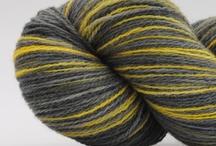 My Yarns / My handdyed yarns. See aalerusen.blogspot.com