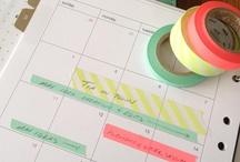 For Type A's   Organization / Organization tips + ideas, planners, Filofax, printable calendars, agendas, decorations, Midori Traveler's Notebook, Hobonichi