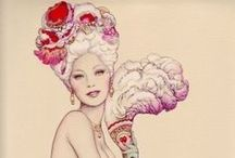 Glam Fantasy / Burlesque & Pin-Up art / by Katzah -