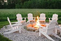 Summer Backyard Projects / Backyard projects to do at home! Fire Pits, lights and more!