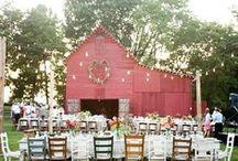 Jessica's Wedding / #farmwedding #wildflowers #bistrolights #lemonadebar / by Cherry Bomb Events