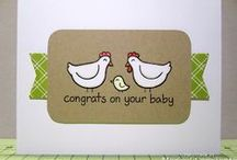 My cards, pinned! / These are cards I've made that has originally been pinned by others onto Pinterest =)