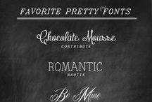 Design and fonts  / by Olga Satyrova