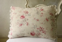 French vintage fabric cushions
