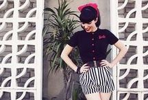 Black & White & Red All Over / Wardrobe Inspiration. Monochrome and a splash of red. / by Miss Honey Bare