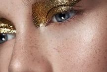 SONIA ALLEN G-g-g-glitter / Glitter makeup ideas.