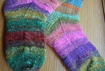 knit socks & slippers.  / Knitting socks & more / by Del