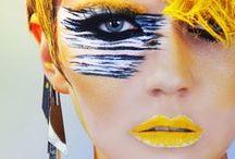 SONIA ALLEN Bold / Creative conceptual avant garde makeup.