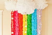 rainbow party / party ideas for that kid who knows where the bluebirds fly