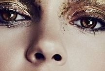 SONIA ALLEN Gold Foil / Hair and makeup inspiration using gold foil.
