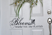 Home Accent Vinyl / by Poppy Seed Projects {Poppy Seed Projects.com}