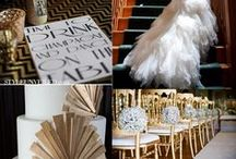 Gatsby wedding inspiration: yellow, grey, gold / Gatsby / Titanic wedding inspiration: yellow, grey, gold. *glitter*!! / by Shana Dysert
