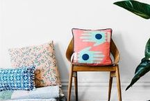 cushions // pillows / Soft pillows, funky cushions, designer home decor, textiles and more. This board is all about those things that we use to decorate sofas.