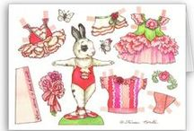 Paper Dolls: Woodland Creatures / For my Grand daughter Anna.
