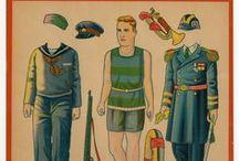 Paper Dolls: Dolls in Uniform  / by Cheryl Darr