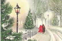 Vintage Christmas Cards - Him & Her