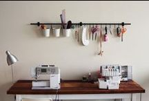 studio spaces / Some inspiration for a working/sewing/creative studio space. Clever storage ideas and decor tutorials for the ultimate working space.