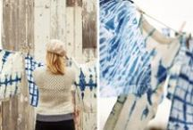 shibori / Shibori is a Japanese tie-dying technique that uses indigo dye to create stunning blue and white patterns and motifs. Be inspired and learn how to do shibori at home!