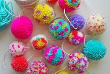 Pom Poms: projects, inspiration, colour / Who doesn't love a pompom? These ideas will inspire you to create jewellery out of pompoms, make home accessories and pompom garlands. There's just so much you can do with a poof of yarn!