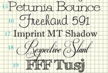 Graphic Design • Fonts